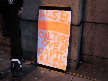 One of the placards